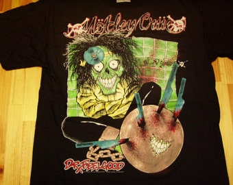 Motley Crue Dr Feelgood Tour T-Shirt 1989 - Dead Stock Licensed Tags
