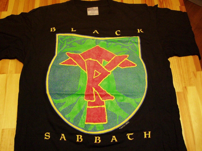 Black Sabbath Shirts Vintage Black Sabbath Tyr Tour T-shirt