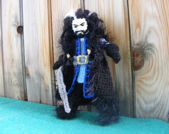 Thorin Oakenshield, crochet doll, handmade, Tolkien, The Hobbit