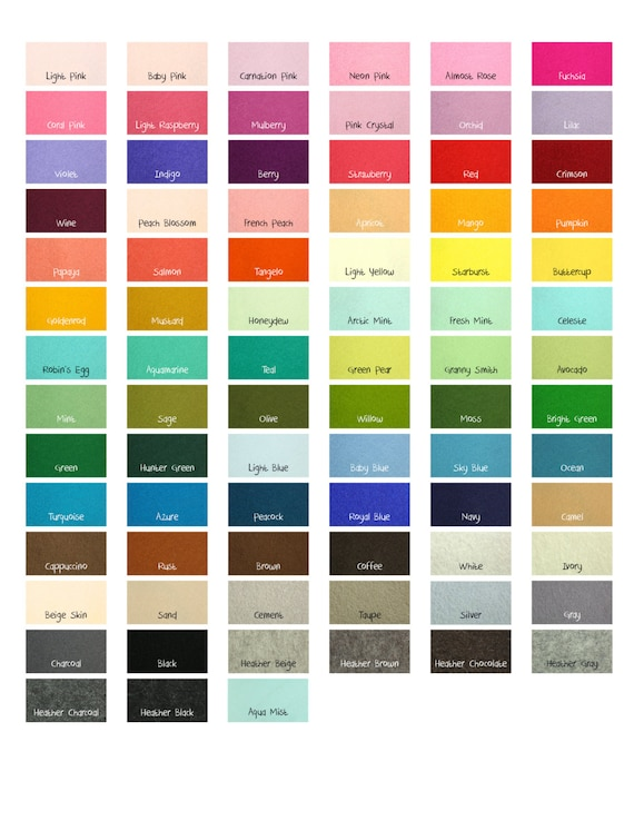 "100 Percent Wool Felt Sheets -  5 Sheets of 8"" X 12"" Felt - You Pick Color - Merino Wool Felt - European Wool Felt"