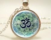 Om Necklace, Yoga Jewelry, Namaste Pendant (1866S1IN)