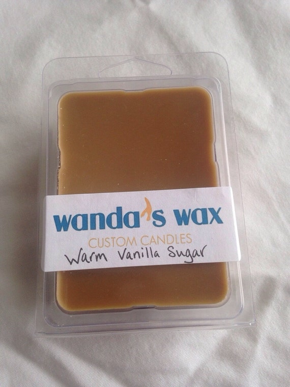Warm Vanilla Sugar scented soy melts pack by wandaswax on Etsy