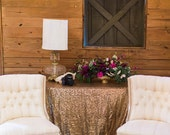GLITZ Sequin Tablecloth Linens (Available in 31 colors - custom & standard sizes available)