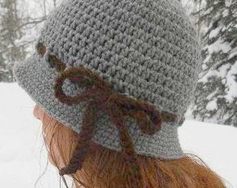 Crochet Cloche,Gift For Her,Vintage Style Hat,Valentine's Day Gift,Crochet Hat,Crochet Cloche,Spring Hat,1920's Inspired Cloche