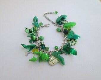 Barbie Shoe  Bracelet /Green Saint Patricks Day  / ITEM 5-009