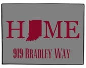 Personalized Indiana State Doormat Welcome Door Mat Custom Rug All States Available Indoor Outdoor Choose Colors