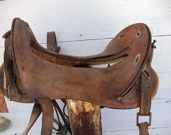 Cavalry Saddle McClellan with Girth WWI 1917 Rock Island Arsenal