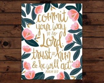 Psalm 37:5 Print