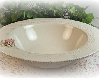 White Lace Bowl