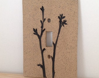 Twig Switch Plate Cover, Single