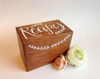 3x5 Recipe Box - Vintage - Handwritten -