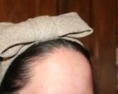 "Burlap Bow ""Tie"" Headband"