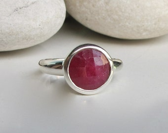 Ruby Ring- Classic Ring- Bridesmaid Ring- Everyday Ring- Red Ring- Jewelry Gifts- Ring