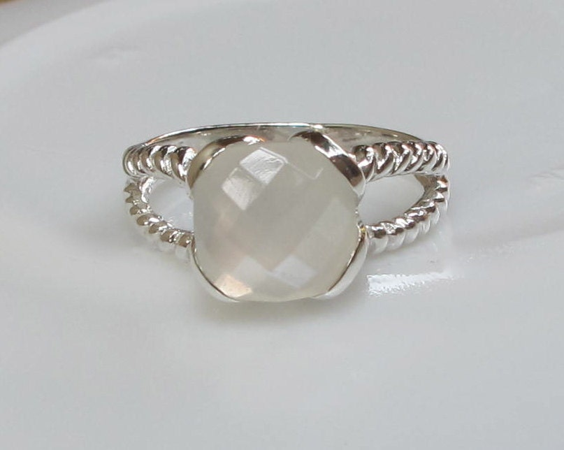 square white moonstone ring promise ring birthstone by belesas