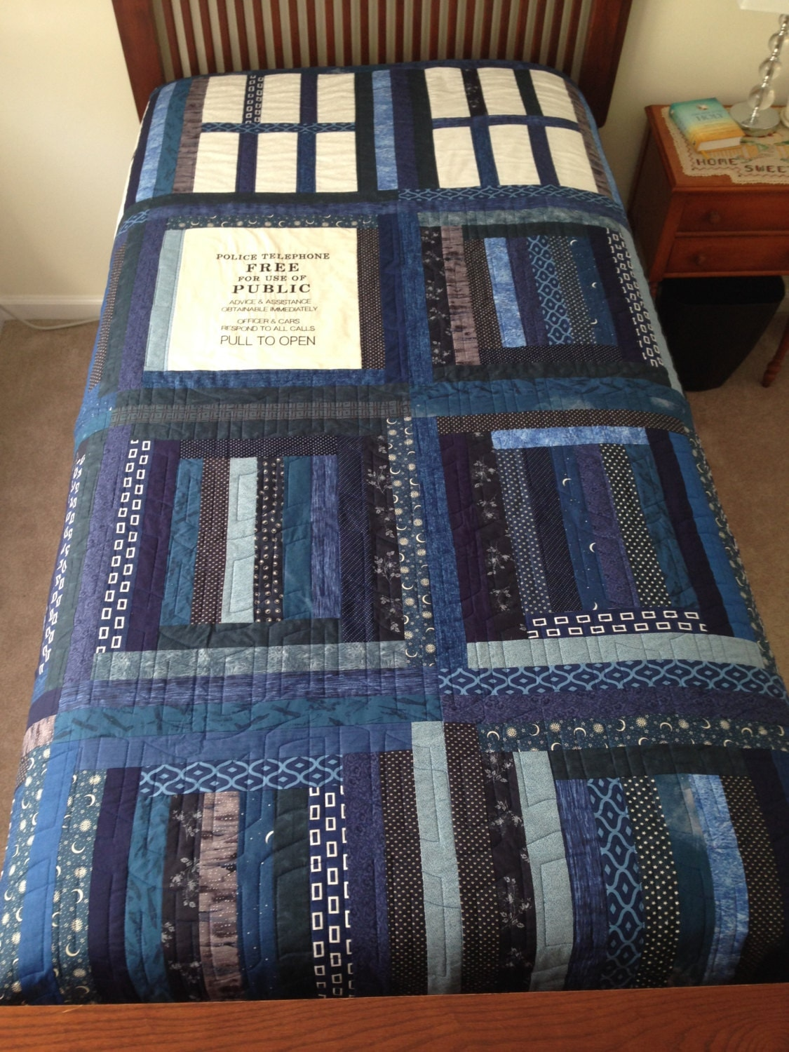 best of gallery crafts tardis quilt dr who tardis quilt unique self designed pattern 343