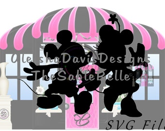 Mickey and Minnie SVG and PNG Digital Download