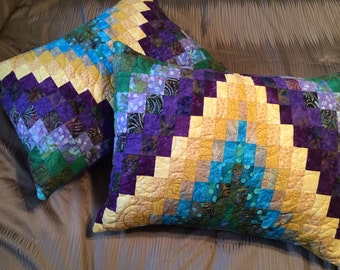 Custom Bargello Quilt Pillow Shams