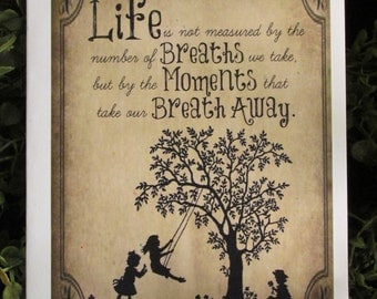 Life's Moments Birthday Card - FREE SHIPPING