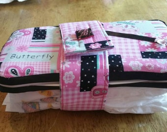 Wipes case and diaper strap combo