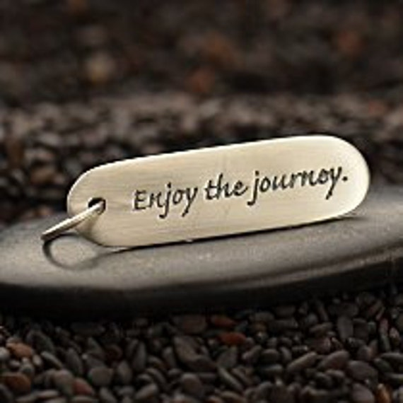Enjoy the Journey Sterling Silver Quote Charm, Enjoy the Journey Charm, Silver Journey Charm, Graduation Charm, Silver Graduation Charm