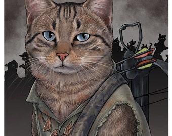 Daryl Cat 11x17 Poster