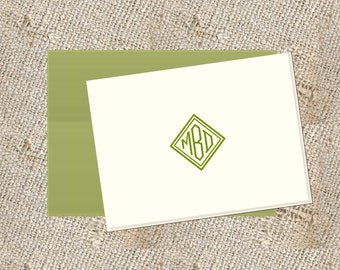 Personalized Stationery  - 25 folded notes & envelopes