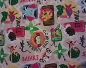 1 yard of Safari animals alphabet fabric
