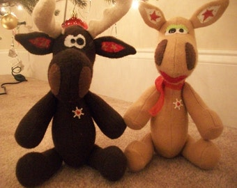 Bruce and Chartreuse the Christmas Moose