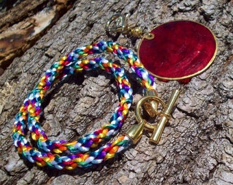 Rainbow Kumihimo Necklace