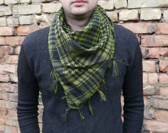 Men Scarf / Cotton Scarf / Unsex Square Cotton Scarf / Gift For Boyfriend / Gift idea / Best Men gift