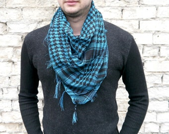 Mens Scarf / Cotton Scarf / Unsex Square Cotton Scarf / Gift For Boyfriend / Best Men gift