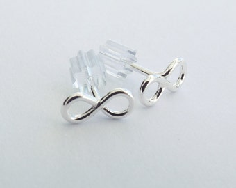 Simple Earrings, Infinity Earrings, Tiny Earrings, Post Earrings, Stud Earrings, Metal Earrings, Modern Jewelry, Minimalist