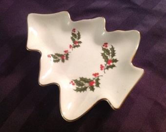 Christmas Holly Fine Porcelain Dish