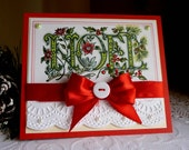 Stampin up! and PSX Handstamped card - NOEL- NEW