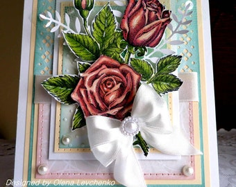 Stampin up! Handmade card for Wedding/ Birthday/ Celebrate - NEW