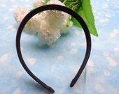 SALE--5pcs black  Satin Headbands-- 15mm Wide