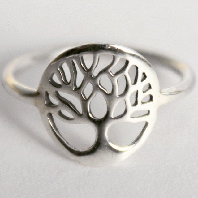 sterling silver tree of life intention ring yggdrasil sacred viking celtic symbol norse - Norse Wedding Rings
