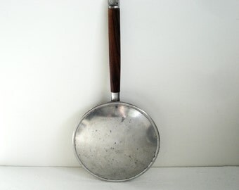 Vintage Crepe Pan Viking Japan Aluminum and Teak Stove Top Crepe Pan