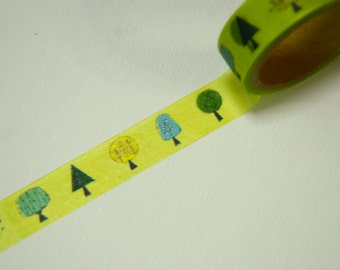 1 Roll of Japanese Washi Masking Paper Tape -Trees