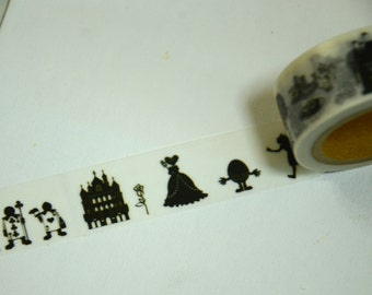 1 Roll of Japanese Washi Masking Tape:  Alice in the Wonderland