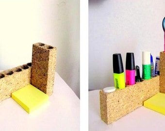 "Desktop accessory organizer for notes, office and other tools, cosmetics. Organizer ""Halva'."