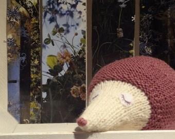 HEDGEHOG hand knit plush toy