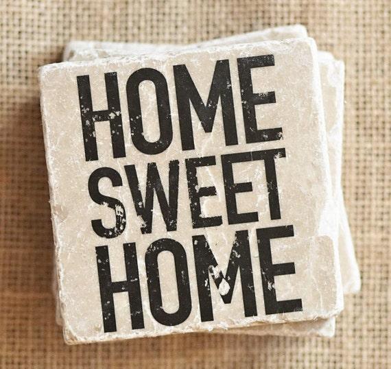 Word Art Coasters Home Sweet Home Decor Home Sweet Home