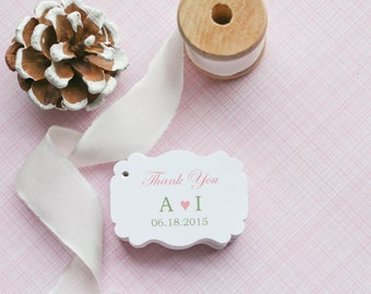 Gift Tags-Wedding Favors-Bridal Shower favors-Wedding Reception-Gift Tags-Wedding Thank you Tags - Set of 40