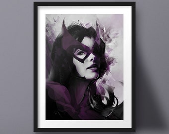 Huntress, Gotham, DC, Comics, Poster, Art Print