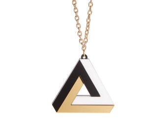 Impossible Triangle necklace - laser cut acrylic