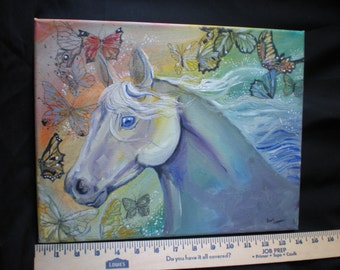 "Original Acrylic Painting Horse ""Beauty in the Sky"""