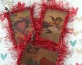 Vintage-Style Mini Valentine Ornaments