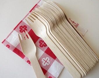 24 wooden forks