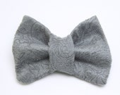 Fifty Shades of Grey Tabby Cat Bow Tie